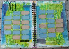 Art Journal Calendar challenge; can't wait to start!