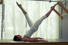 I think this is called parakeet on reformer. I love this move but my toes cramp when doing it.
