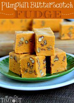 Pumpkin Butterscotch Fudge | MomOnTimeout.com #pumpkin #fudge