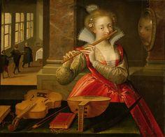 um 1600, Künstler:Dirk de Quade van Ravesteyn, Neue Burg, Sammlung alter Musikinstrumente