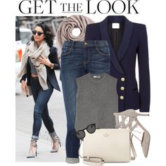Celebrity Look -Vanessa Hudgens by monmondefou on Polyvore featuring moda, Alexander Wang, Pierre Balmain, Frame Denim, Aquazzura, Kate Spade, Faliero Sarti, Illesteva, celebrity and CelebrityLook