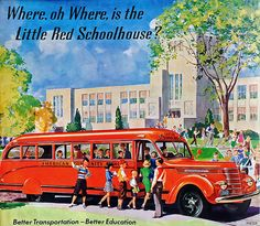 1940 ... lost- one red schoolhouse! by x-ray delta one, via Flickr