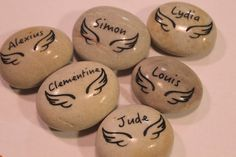 Custom Engraved 2 Inch 50 cm Etched Stone Lite Gray by Studio569
