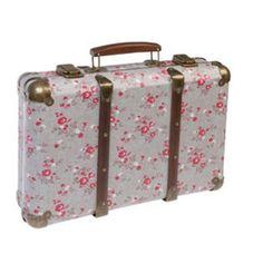 Grande valise fleurie «Agathe»  les brodeuses parisiennes
