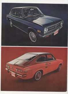 1970 Datsun Advertisement 1200 Sedan and Coupe Ad 70s Car Economy Red Lil Something Special Dealership Garage Shop Wall Art Decor