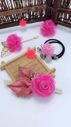 How to make your hairpin is unique, take a look at these two methods of handmade ribbon flowers, put it on the hairpin, it is simple and beautiful crafts for adults diy 2 ways to make ribbon flowers by hand Diy Crafts And Hobbies, Diy Crafts For Gifts, Diy Arts And Crafts, Creative Crafts, Diy Crafts For Adults, Hand Crafts, Paper Flowers Craft, Flower Crafts, Diy Flowers