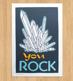 You Rock Letterpress Print | Art Prints | Roll & Tumble | Scoutmob Shoppe | Product Detail