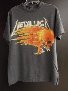 METALLICA Vintage T Shirt Tour Concert 1994 Summer Cities L USA GIANT #743 #Giant #BasicTee