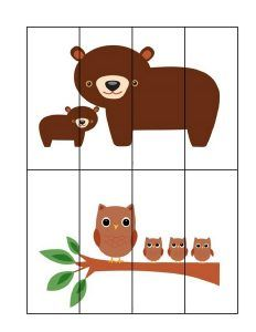 Forest animals math activities for preschoolers Animal Activities, Summer Activities, Preschool Activities, Animal Puzzle, Preschool Printables, Forest Animals, Fun Crafts, Puzzles, Kindergarten