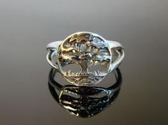 Tree of Life  Sterling Silver Ring  95 by Firefallstudios on Etsy