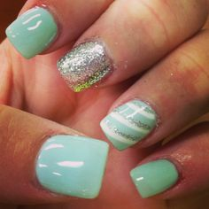 98 Best Mint Green Nails Images Nail Polish Hairdos Manicure