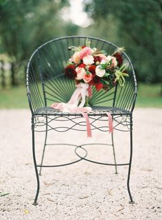 Love the Ribbon! | Magnolia Rouge + Jen Huang + Fleuriste on Grey Likes New Zealand Auckland Wedding Garden Inspiration