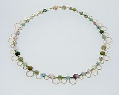 Gold and Tourmaline necklace by Catherine Mannheim
