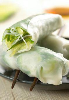 Rouleaux de printemps au concombre : recette de concombre, concombre en rouleau de printemps - Snacking : recettes de snacks, snack à manger avec les doigts, snacker en été