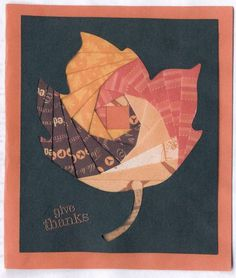 Welcome Fall with this Thanksgiving Iris Fold leaf. This card making idea is a beautiful way to give thanks.