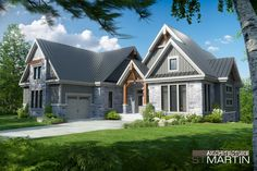 Architecture St-Martin » MAISONS NEUVES Two Storey House Plans, Open Concept Floor Plans, American Houses, Sims House, House Layouts, Architecture, Curb Appeal, Exterior Design, Future House