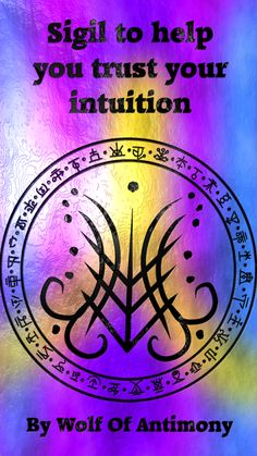 Sigil to help you trust your intuition love symbol Wolf Of Antimony Occultism Sigil Magic, Magic Symbols, Spiritual Symbols, Love Symbols, Wiccan Spell Book, Wiccan Spells, Magic Spells, Witchcraft, Intuition