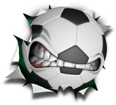 mean soccer ball for the wall