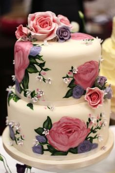 The Nevie Cake - A tribute to my cake Crush NeviePiecakes - The Sugared Rose at the Loved and Local Wedding Fayre in Hilton Beautiful Wedding Cakes, Gorgeous Cakes, Pretty Cakes, Amazing Cakes, Fondant Cakes, Cupcake Cakes, Hand Painted Cakes, Just Cakes, Floral Cake