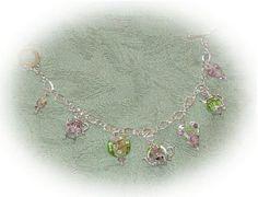 Pastel Princess Teapot Charm Bracelet