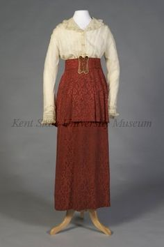 Suit, The Linder Co., Cleveland, American, silk damask two-piece day suit, 1914