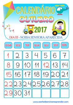 Calendário reformulado - Outubro 2017