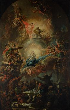 Angels Christian Art - The Assumption by Johann Christoph Lischka Renaissance Kunst, Renaissance Paintings, Catholic Art, Religious Art, Rennaissance Art, Arte Obscura, Baroque Art, Biblical Art, Classic Paintings