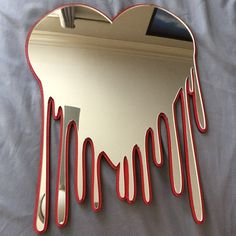 Heart Wall Decor, Heart Wall Art, Heart Mirror, Wall Art Decor, Room Ideas Bedroom, Teen Room Decor, Bedroom Decor, Acrylic Mirror, Mirror Art