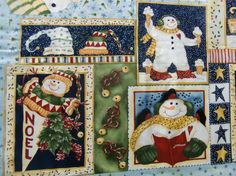 Cotton Quilt fabric Christmas Let It Snow Snowman by AuntieKsAttic WINNING FABRIC of the November Shop Hop! Congratulations Auntie K's Attic!! :-)
