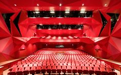 Theatre Agora (interior), in Lelystad, Netherlands. Designed by UNStudio
