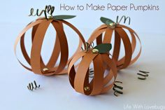 How to Make Paper Pumpkins