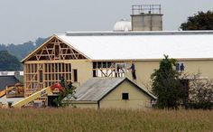 amish-barn-raising, the male equivalent to a quilting-bee, a social time of productivity.