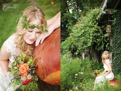 One of my fave. Woodland wedding. The atmosphere is nice, it has woodland theme and similar feeling that we want to achieve. (too bad the color is not)