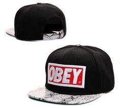ef7f6764670 NEW Obey Hat Adjustable Snapback Cap Snakeskin Black