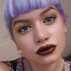 See? And brown lipstick it happens to look drop dead gorgeous with pastel hair. | 23 People Who Look Drop Dead Amazing Wearing Brown Lipstick