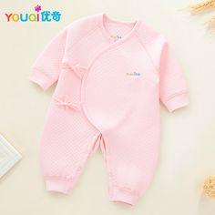 d24ff1e65 YOUQI Mamelucos Recién Nacidos de Invierno Pijamas Calientes Ropa de Bebé  Ropa de Las Muchachas Muchachos