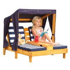 leżak, z baldachimem, kidkraft, brykacze, meble ogrodowe, dla dzieci,