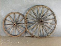 These wagon wheels will lend an authentic look to your western event.