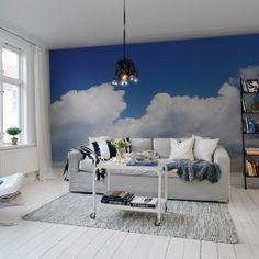 Always blue skies with our wall mural Happy Cloud.
