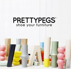Pretty Pegs: a wide range of cool legs that easily screw into the bases of Ikea sofas and beds. Smart!