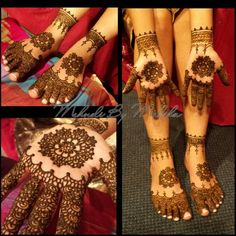 Bridal mehndi - mandala and Indian henna