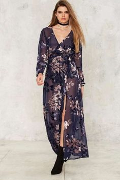 Feel the Burnout Velvet Maxi Dress