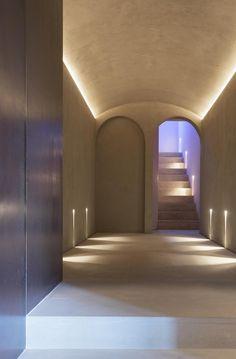 Corridor Lighting, Cove Lighting, Interior Lighting, Lighting Design, Minimal Architecture, Islamic Architecture, Interior Architecture, Spa Design, House Design