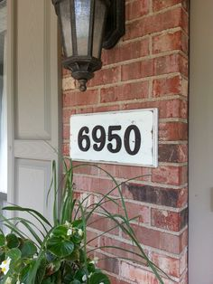 Doing this with nickel letters & background color to match my front door. Dress up the entry