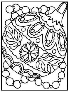 Christmas Ornament coloring page -- free coloring pages from Crayola