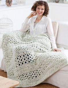 Easy and Super Quick Crochet Afghan - Free Pattern!