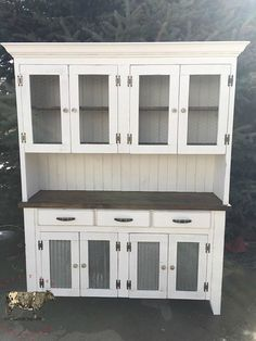 Custom hutch/cabinet  FREE SHIPPING by LazyTBarTreasures on Etsy