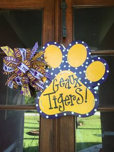 Hey, I found this really awesome Etsy listing at https://www.etsy.com/listing/240468360/door-hangers-lsu-lsu-wreath-lsu-door