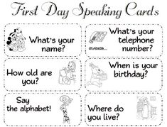 Enjoy Teaching English: BACK TO SCHOOL ACTIVITY (speaking cards)