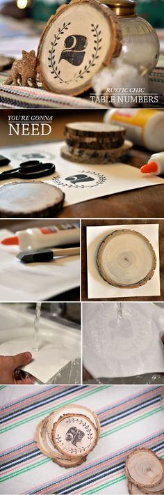 Rings impression - DIY decorative wooden rings